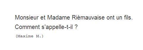 Maxime M. - devinette 1