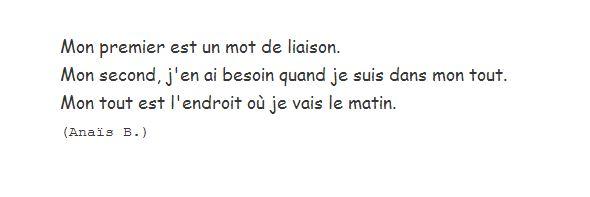 Anais B. charade 1