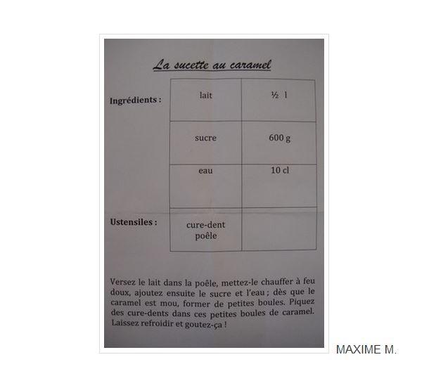 Maxime M. - recette