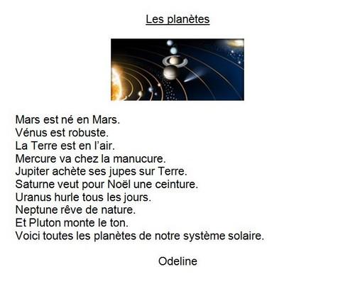 Odeline G. -planetes