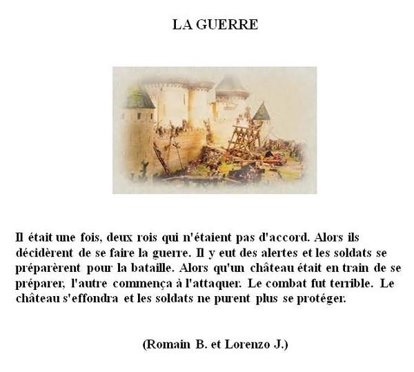 Romain B. et Lorenzo J. - la guerre
