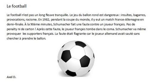 Axel D le football