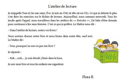 Flora B l'atelier de lecture
