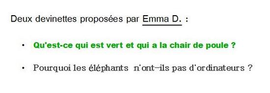 Emma D devinettes