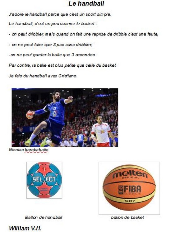 Le handball-Willian VH