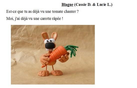 Blague-Cassie D Lucie L