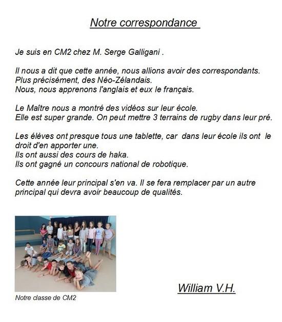 Notre correspondance-Willian VH