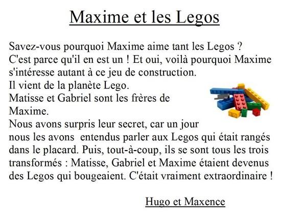 Maxime et les legos(Hugo M et Maxence R)