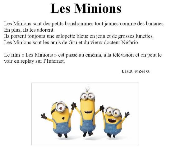 Les Minions-Lea D et Zoe G